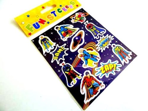 Super Hero Sticker Sheet
