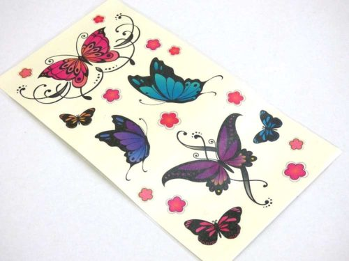 Butterflies & Blossoms Tattoo Sheet