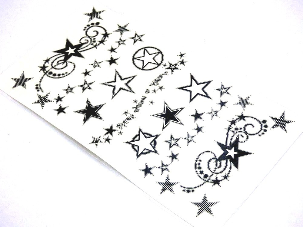 Wish Upon a Star Tattoo Sheet