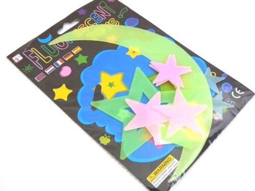 Coloured Glow in the Dark Stars and Planets