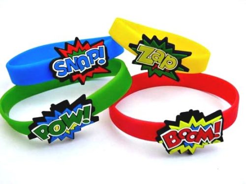 Super Hero Silicone Wrist Band