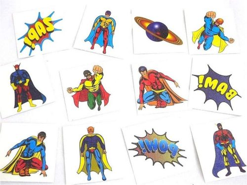 Single Boys Super Hero Tattoo