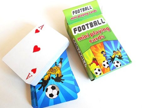 Miniature Football Playing Cards