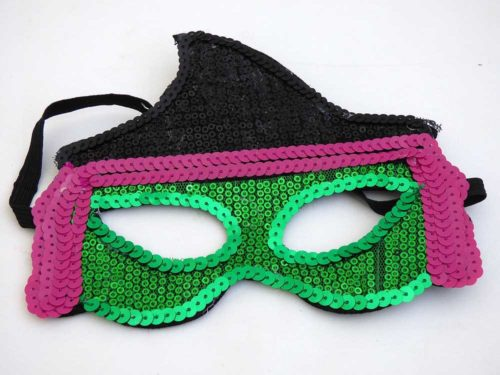 Sequin Halloween Mask