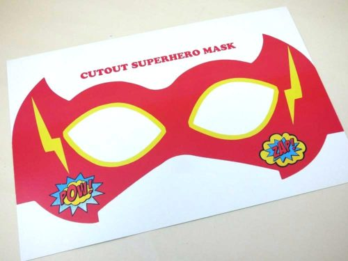 Super Hero Mask Cut-Out