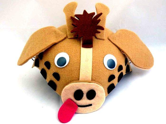 Felt Giraffe Hat
