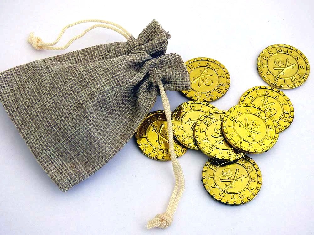 Jute Bag of Gold Coins