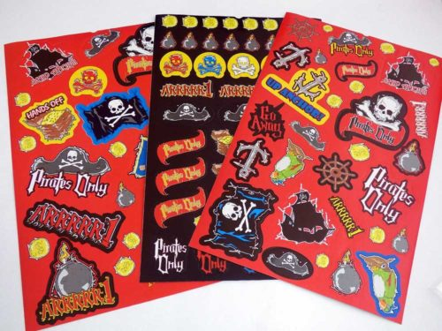 Large Pirate Sticker Sheet