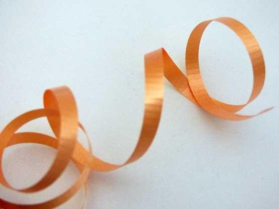 Length Orange Curling Ribbon