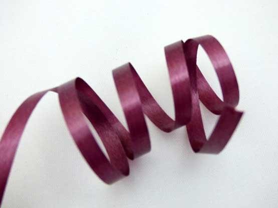 Length Burgundy Curling Ribbon