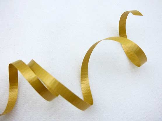 Length Matt Gold Curling Ribbon
