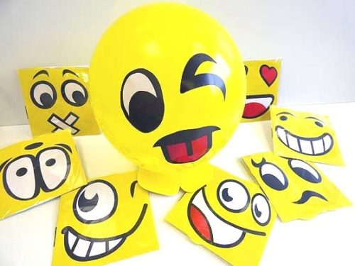 Balloon Smiley Emoji Kit