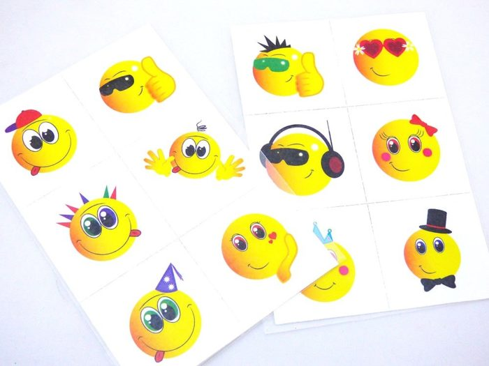 6 Smiley Tattoo Sheet