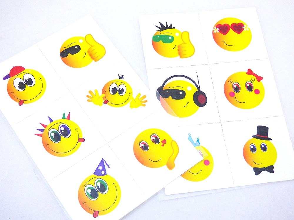 6 Smiley Tattoo Sheet