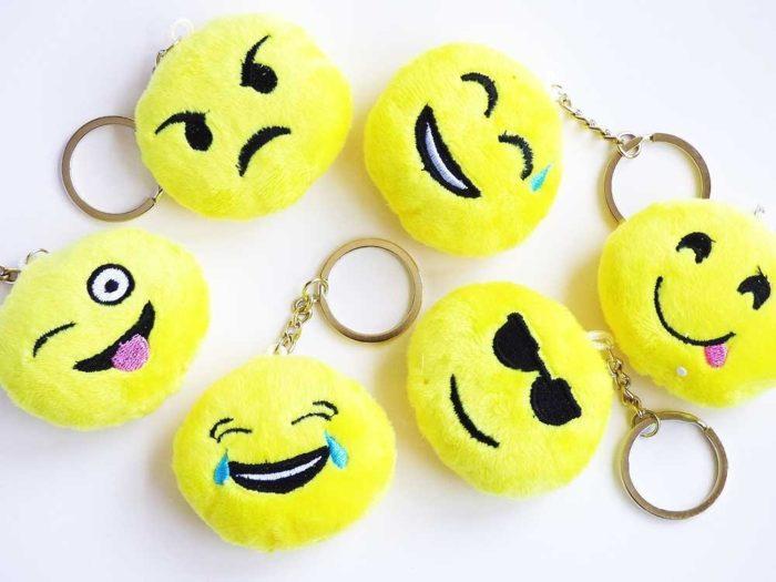 Plush Emoji Key Ring