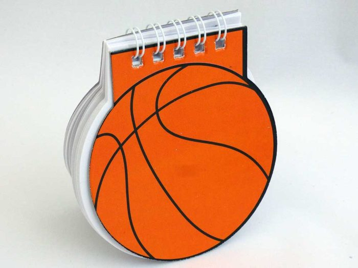 Spiral Bound Basketball Note Pad