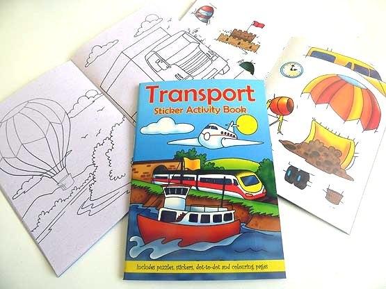 Transport Sticker Activity Book