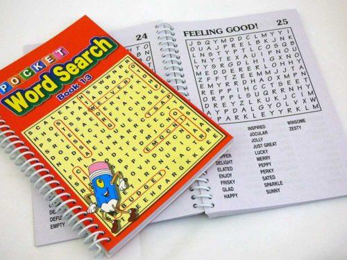 Spiral Bound Word Search Book