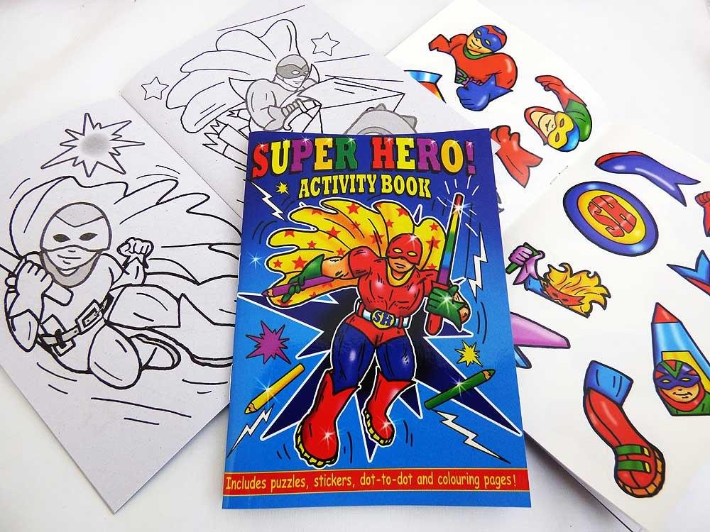 Super Hero Sticker Activity Book