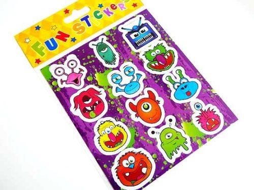 Alien Monster Sticker Sheet