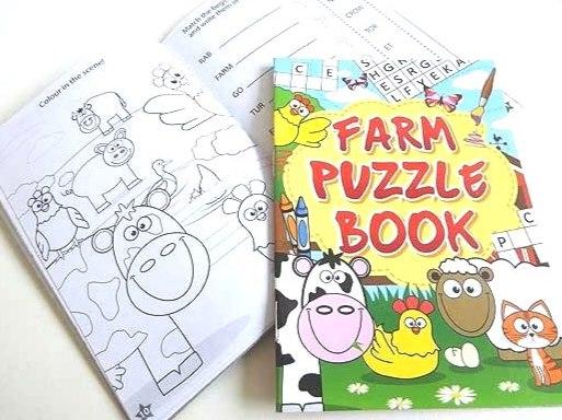 Farm Puzzle Book