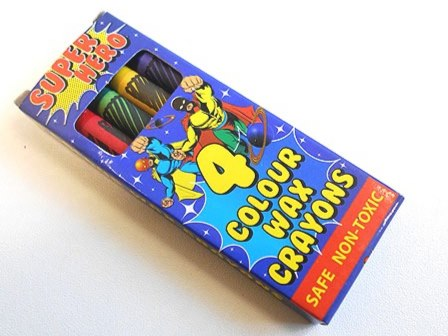 Super Hero Wax Crayons (4)