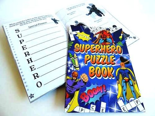 Super Hero Puzzle Book