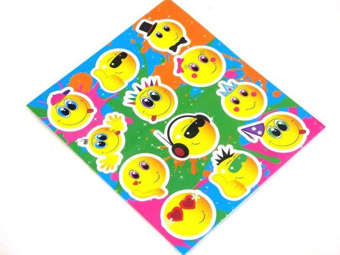 Smiley Sticker Sheet
