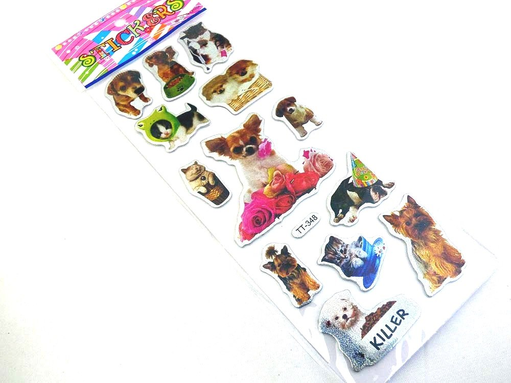 Sparkle Sticker Sheet - Dogs & Cats