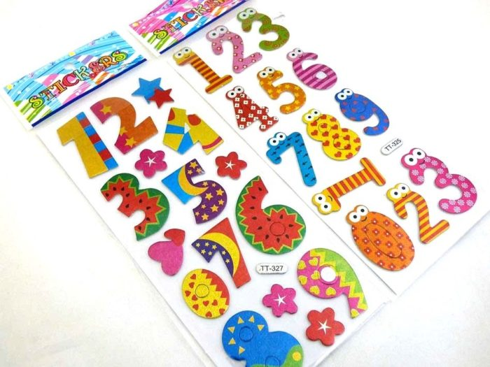 Sparkle Sticker Sheet - Numbers