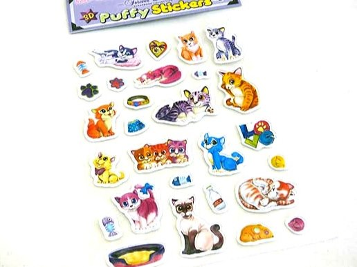 Large Cat Puffy Sticker Sheet