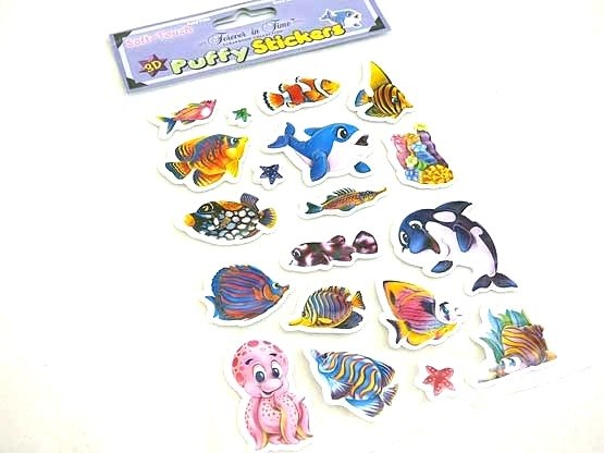 Large Sealife Puffy Sticker Sheet