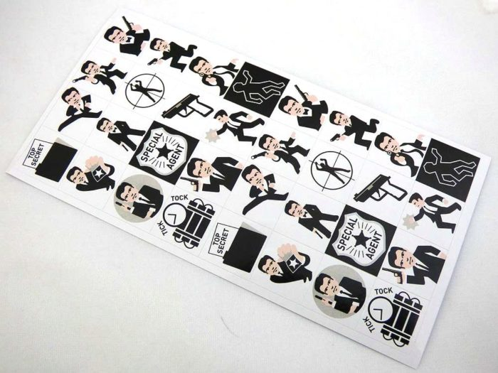 Mini Stickers - Secret Agent