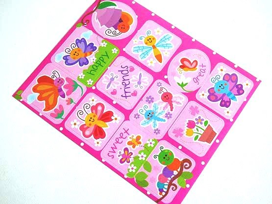Flutterbugs Sticker Sheet