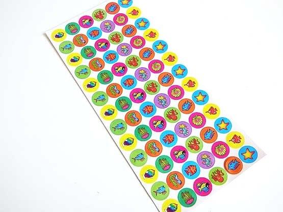 Mini Sealife Animals Sticker Sheet