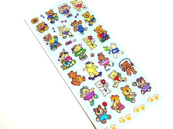 Teddy Bears Sticker Sheet