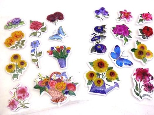 Crystal Flower Stickers