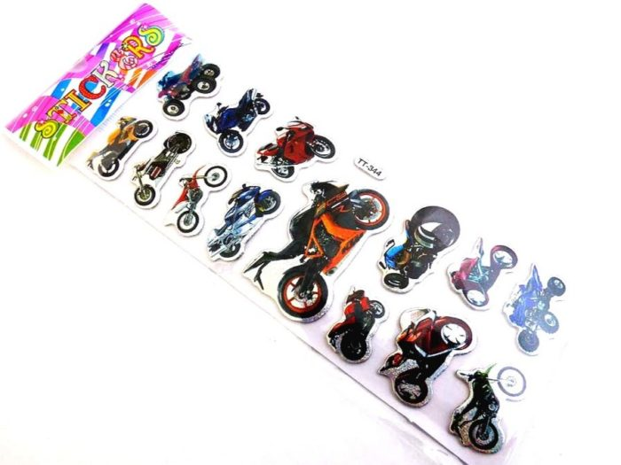 Sparkle Sticker Sheet - Motorbike