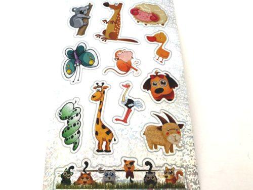 Shimmery Animal Sticker Sheet