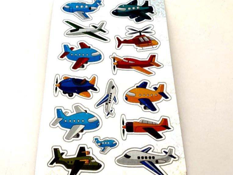 Shimmery Planes Sticker Sheet