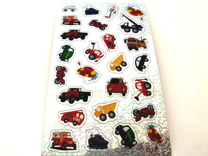Shimmery Transport Sticker Sheet