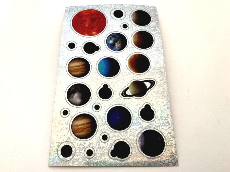 Shimmery Planets Sticker Sheet