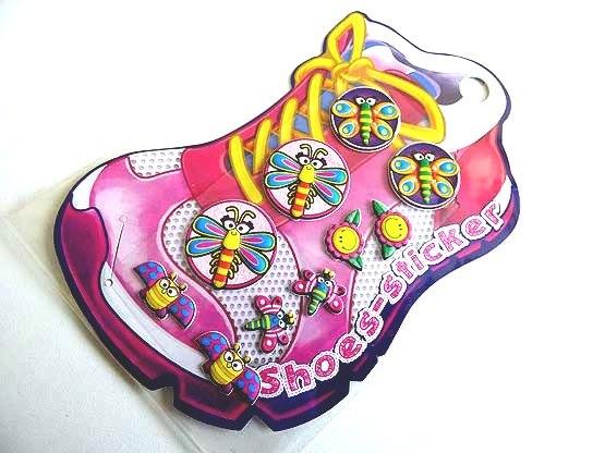 Flutterbug Shoe Stickers