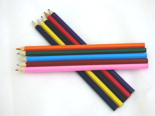 5 Assorted Loose Colouring Pencils