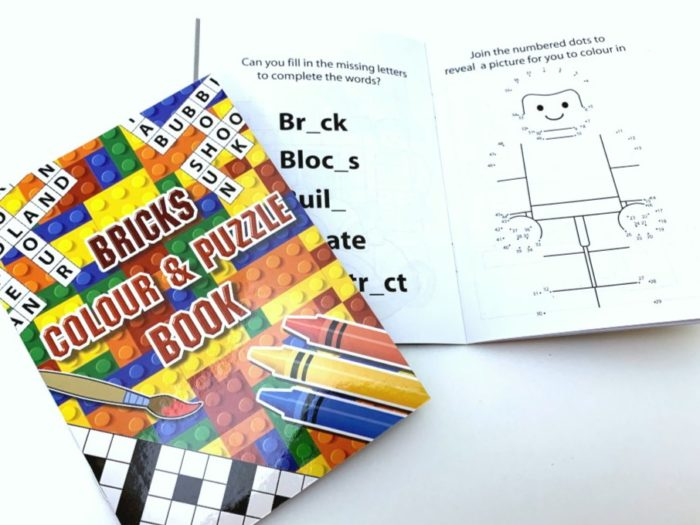 Bricks Colour & Puzzle book