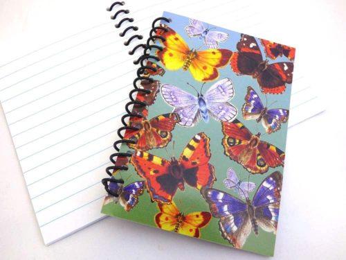 Spiral Bound Butterfly Notebook