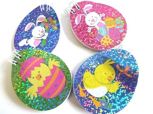 Sparkle Easter Oval Note Pad