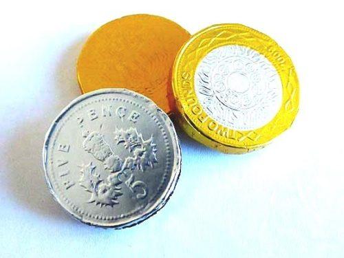 3  Milk Chocolate Coins