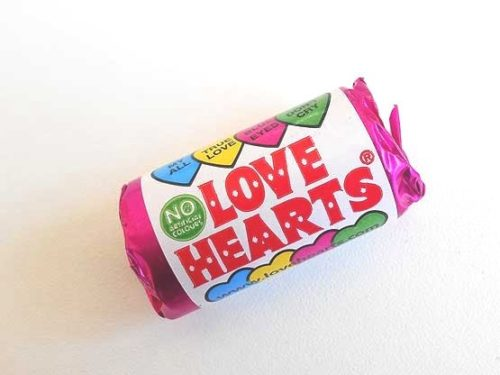 Mini Tube of Love Hearts