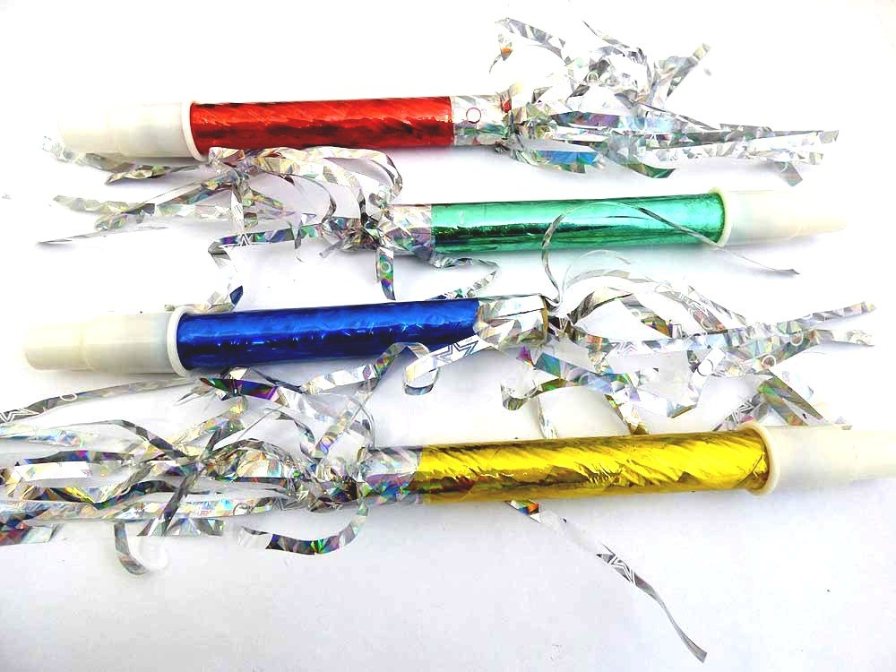Metallic party blower